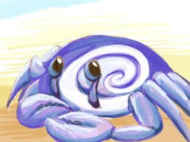 Shy Crab by calger459