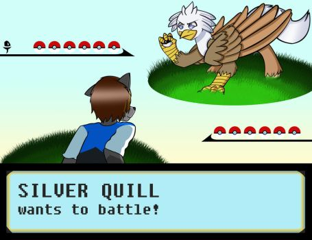 Silver Quill Wants to Battle by ProudMuggle