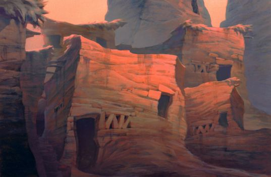 Prince of Egypt Dwellings by NathanFowkesArt