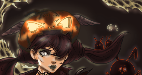 Halloween coloring challenge by MayStardust