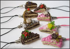Polymery Cake Charms by Si3art