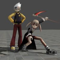 Yey Maka and Soul~ by hetalia-fanart
