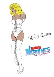 White Queen in bondage by Mikey111