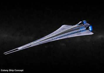Colony Ship Concept by Infinite-Auran