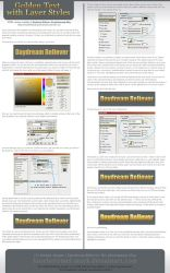 Golden Text with Layer Styles by kuschelirmel-stock