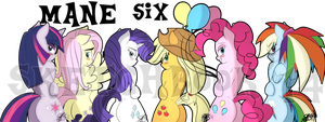 The MANE Six by xxXSketchBookXxx