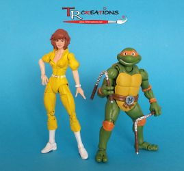 Turtles Figuarts - April O'Neil custom figure by zelu1984