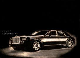Rolls Royce Phantom..Black by ezakytheartist