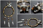 Golden wolf -dreamcatcher by SaQe