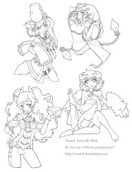 Various lineart take 2 by Tanael