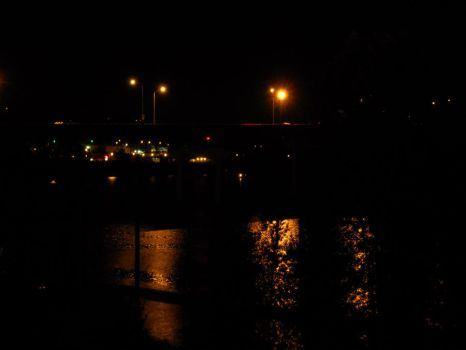 Willamette River At Night by pancakes0fredemption
