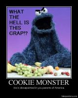 Cookie Monster Demotivational by blackdeath2000