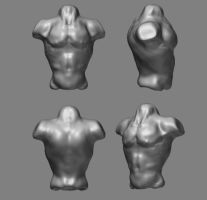Zbrush 3D body by Fusty