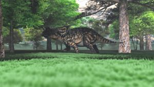 Dinosaur in the woods by Willbear