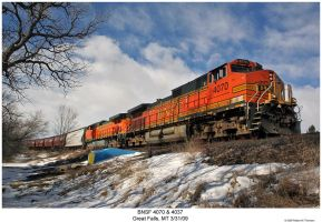 BNSF 4070 and 4037 by hunter1828