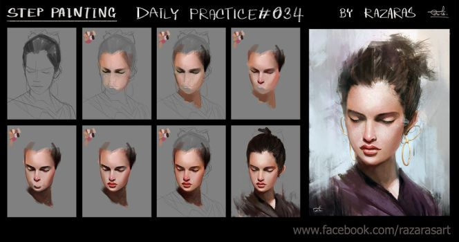 Step painting Daily Practice#034 by Razaras
