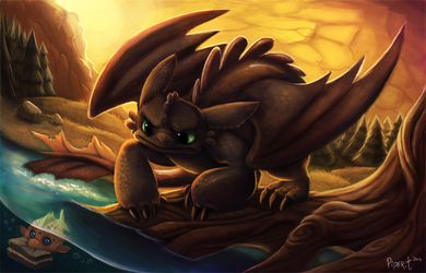Toothless by Cryptid-Creations