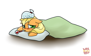 Applejack: I have a cold! by norang94