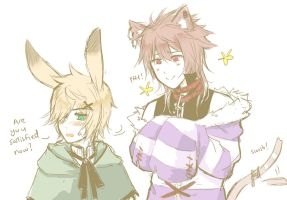 PS:: The Bunny and the Cat by yukinayee