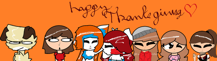 Happy Thanksgiving To All My Friends by Darkfurrygirl21