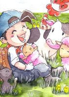 Harvest Moon by whitelapin