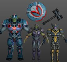 Skrull Elite Pack Marvel Heroes XNALara by Xelandis