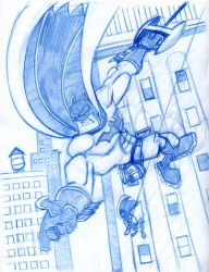 Swinging with Batman and Robin by Hen-Hen