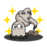 Shiny Mimikyu + Ghost (Pac-Man) by shawarmachine