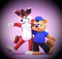 Commission: Jay The Squirrel And Mars The Fandox! by SmashingRenders
