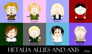 Hetalia Allies and Axis Powers by Anthamiala