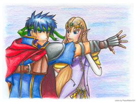 Ike and Zelda by PeaceMakerSama
