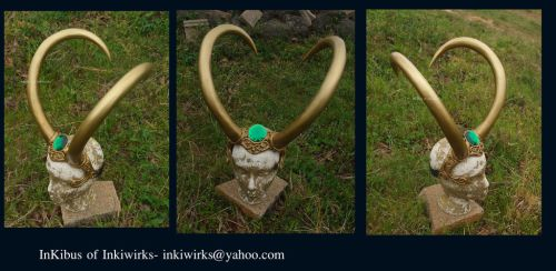 Custom large gem Lady Loki diadem horns crown by InKibus