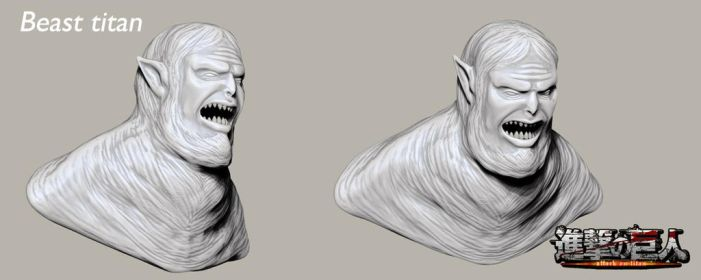 Beast Titan Bust by Bran-Artworks