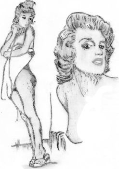 Marilyn Monroe by Annypinup