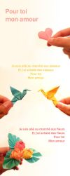 Pour toi mon amour - origami by Drahoslav7
