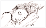 Sketch of Alma Sleeping by chorvath8