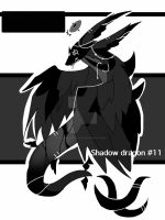 Monochromatic shadow dragon adoptable CLOSED by AS-Adoptables