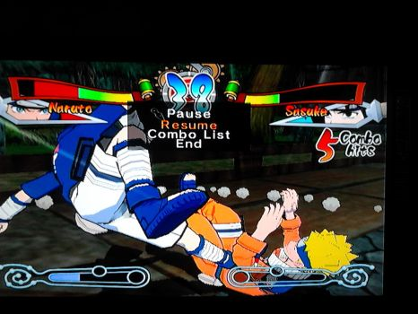 Naruto getting kicked in da nuts :P by ichigolover15555