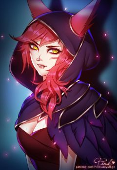 Xayah by PinkLadyMage