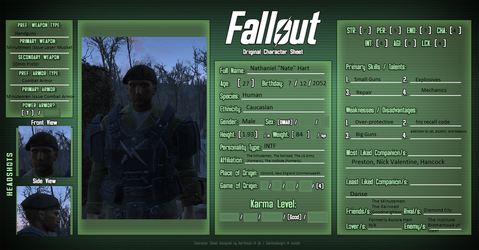 General Nathaniel Hart: Fallout 4 OC by davoid123