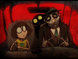 Fran Bow - The Car Ride [Trade] by Atlas-White