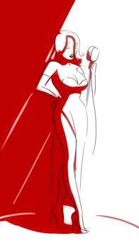 Jessica Rabbit Sketch by Badspot