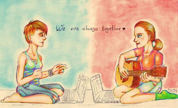 We are always together by JustRiyaRay