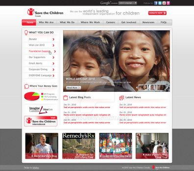 Website for Save The Children by ridzz