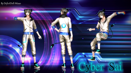 [MMD]Cyber Sai [DL] by DefectDoll-Misao