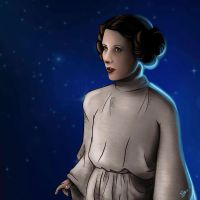 Princess Leia by alineumann