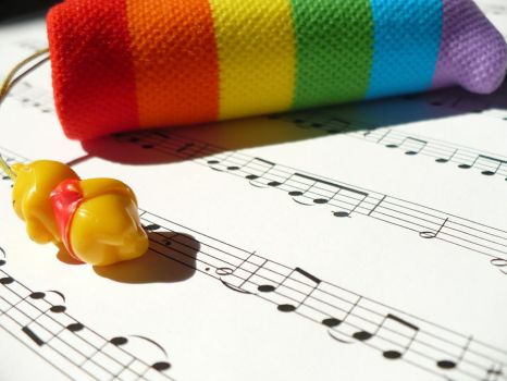 Rainbows and Music 1 by meldel92