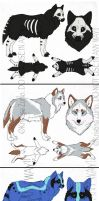 Wolf Adoptable Designs ( all sold) by NatsumeWolf