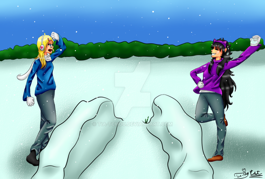 Snowball Fight - [COLLAB] by Tia-Tchou