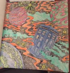 Outer Space - Doctor Who Coloring Book by mkayswritings
